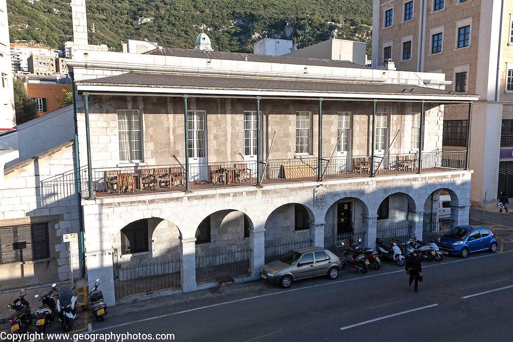 Casino Calpe building built in 1853 Gibraltar, British terroritory in southern Europe