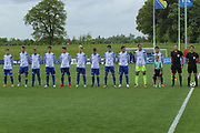 Bosnia sing the national anthem during the UEFA European Under 17 Championship 2018 match between Bosnia and Republic of Ireland at Stadion Bilino Polje, Zenica, Bosnia and Herzegovina on 11 May 2018. Picture by Mick Haynes.