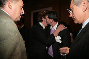 Edmondo di Robilat, Nicky Haslam and COUNT MANFREDI DELLA GHERARDESCA . private view of The Alberto Bruni Tedeschi Collection -  Sotheby's,19 March 2007.  -DO NOT ARCHIVE-© Copyright Photograph by Dafydd Jones. 248 Clapham Rd. London SW9 0PZ. Tel 0207 820 0771. www.dafjones.com.