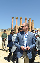 The Duke of Cambridge during a visit to the Jerash archaeological site in Jordan.