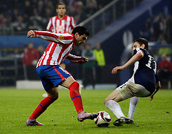 12.05.2010, Hamburg Arena, Hamburg, GER, UEFA Europa League Finale, Atletico Madrid vs Fulham FC, im Bild Action picture involving Atletic Madrid's Jose Antonio Reyes and Fulham's Zolt?n Gera, EXPA Pictures © 2010, PhotoCredit: EXPA/ IPS/ Marcello Pozzetti / SPORTIDA PHOTO AGENCY