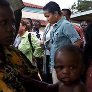 Helene Gayle, President and CEO of CARE visits Siaya district hospital during the Learning Tours trip to Kenya.