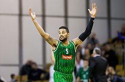 Devin Oliver of Petrol Olimpija reacts during basketball match between KK Ilirija and KK Petrol Olimpija in 10th Round of Nova KBM Basketball League 2017/18, on December 17, 2017 in Hala Tivoli, Ljubljana, Slovenia. Photo by Vid Ponikvar / Sportida