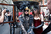 PAM HOGG; RACHEL 2, Sebastian Horsley funeral. St. James's church. St. James. London afterwards in the church garden. July 1 2010. -DO NOT ARCHIVE-© Copyright Photograph by Dafydd Jones. 248 Clapham Rd. London SW9 0PZ. Tel 0207 820 0771. www.dafjones.com.
