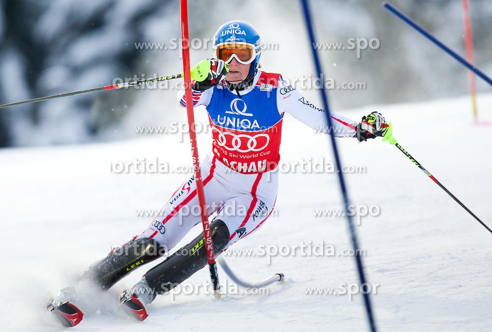 20.12.2011, Hermann Maier Piste, Flachau, AUT, FIS Weltcup Ski Alpin, Damen, Slalom 1. Durchgang, im Bild Marlies Schild (AUT) // Marlies Schild of Austria during Slalom 1st run at FIS Ski Alpine Worldcup at Hermann Maier Pist in Flachau, Austria on 2011/12/20. EXPA Pictures © 2011, PhotoCredit: EXPA/ Johann Groder