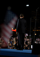 Senator Barack Obama and his supporters celebrate his election as the United States 41st president.
