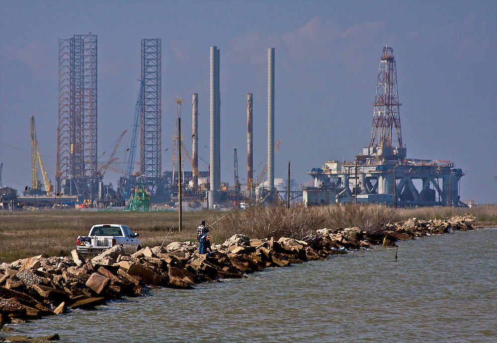 Fishing at Sabine Pass, Texas