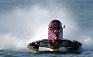Qatari Boat #55 piloted by American Jayce Price finished 2nd in 2006 Formula 2000 President Cup Powerboats Chamionship, 6 Jan 06, Doha Bay, Doha, Qatar