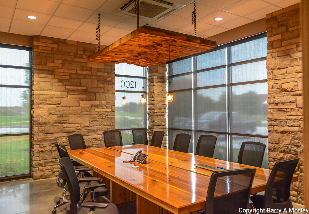 Brester Construction Conference Room Photograph by premier Architectural Photographer Barry A Mosley in Lincoln, Nebraska.