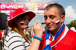 Russian fan prior to the UEFA EURO 2012 group A match between Poland and Russia at City Centre on June 12, 2012 in Warsaw, Poland.  (Photo by Vid Ponikvar / Sportida.com)