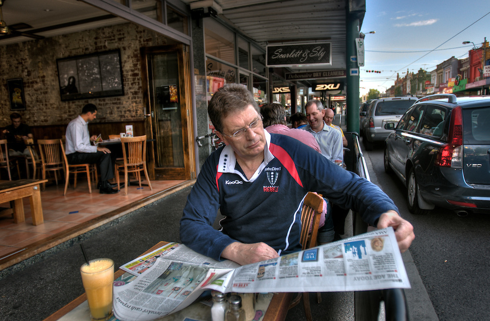 BEST PIC*** Victorian Premier Ted Baillieu after one year in office. Having breakfast at a Glenferrie rd cafe in Hawthorn. Pic By Craig Sillitoe CSZ/The Sunday Age.21/11/2011  Pic By Craig Sillitoe CSZ / The Sunday Age melbourne photographers, commercial photographers, industrial photographers, corporate photographer, architectural photographers, This photograph can be used for non commercial uses with attribution. Credit: Craig Sillitoe Photography / http://www.csillitoe.com<br />