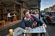 BEST PIC*** Victorian Premier Ted Baillieu after one year in office. Having breakfast at a Glenferrie rd cafe in Hawthorn. Pic By Craig Sillitoe CSZ/The Sunday Age.21/11/2011  Pic By Craig Sillitoe CSZ / The Sunday Age melbourne photographers, commercial photographers, industrial photographers, corporate photographer, architectural photographers, This photograph can be used for non commercial uses with attribution. Credit: Craig Sillitoe Photography / http://www.csillitoe.com<br /> <br /> It is protected under the Creative Commons Attribution-NonCommercial-ShareAlike 4.0 International License. To view a copy of this license, visit http://creativecommons.org/licenses/by-nc-sa/4.0/.