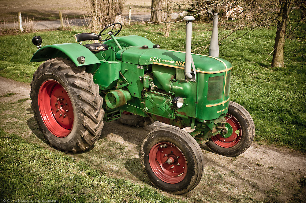 Deutz antique tractor photographed for Skagit Valley farmer.