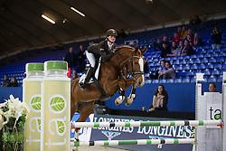 De Graaf Femke, (BEL), Joker van de La Rosteehoeve <br /> Super Final Youth Cup VLP-LRV<br /> Vlaanderen Kerstjumping - Memorial Eric Wauters - <br /> Mechelen 2015<br /> © Hippo Foto - Dirk Caremans<br /> 30/12/15