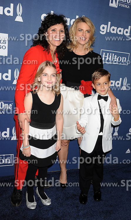 GLAAD CEO & President Sarah Kate Ellis, musician Kristen Henderson (L) and their family, 27th Annual GLAAD Media Awards, at The Beverly Hilton Hotel, April 2, 2016 - Beverly Hills, California. EXPA Pictures © 2016, PhotoCredit: EXPA/ Photoshot/ Celebrity Photo<br /> <br /> *****ATTENTION - for AUT, SLO, CRO, SRB, BIH, MAZ, SUI only*****