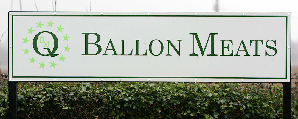 22/1/2005.The sign for Ballon Meats at the plant in Carlow..Picture Dylan Vaughan
