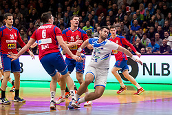 Igor Zabic of Slovenia during Handball friendly match before EURO 2018 between Slovenia and Serbia, on January 10, 2018 in Rdeca dvorana, Velenje, Slovenia. Photo by Urban Urbanc / Sportida