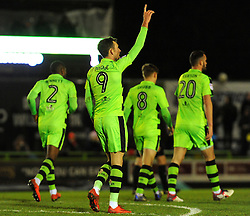 Christian Doidge of Forest Green Rovers scores a goal making it 3-1- Mandatory by-line: Nizaam Jones/JMP - 13/02/2018 - FOOTBALL - New Lawn Stadium - Nailsworth, England - Forest Green Rovers v Stevenage - Sky Bet League Two