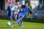 21.09.2017; Niederhasli; FUSSBALL U16 - Schweiz - Italien;<br /> Willy Vogt (SUI) Christian Dimarco (ITA) <br /> (Andy Mueller/freshfocus)