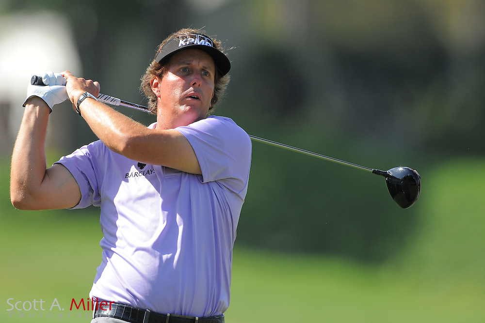 Phil Mickelson during the first round of the Arnold Plamer Invitational at the Bay Hill Club and Lodge on March 22, 2012 in Orlando, Fla. ..©2012 Scott A. Miller.