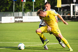 Jon Šporn of Mura and Slobodan Vuk of Domzale  during football match between NŠ Mura and NK Domžale in 30th Round of Prva liga Telekom Slovenije 2019/20, on June 28, 2020 in Fazanerija, Murska Sobota, Slovenia. Photo by Blaž Weindorfer / Sportida