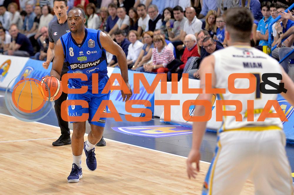 Marcus Landry<br /> Vanoli Cremona - Germani Basket Brescia Leonessa<br /> Lega Basket Serie A 2016/2017<br /> Cremona, 09/04/2017<br /> Foto M.Ceretti / Ciamillo - Castoria