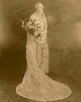 Restoration of a classic bridal portrait.