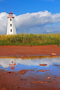 North Point Lighthouse and reflection in pool