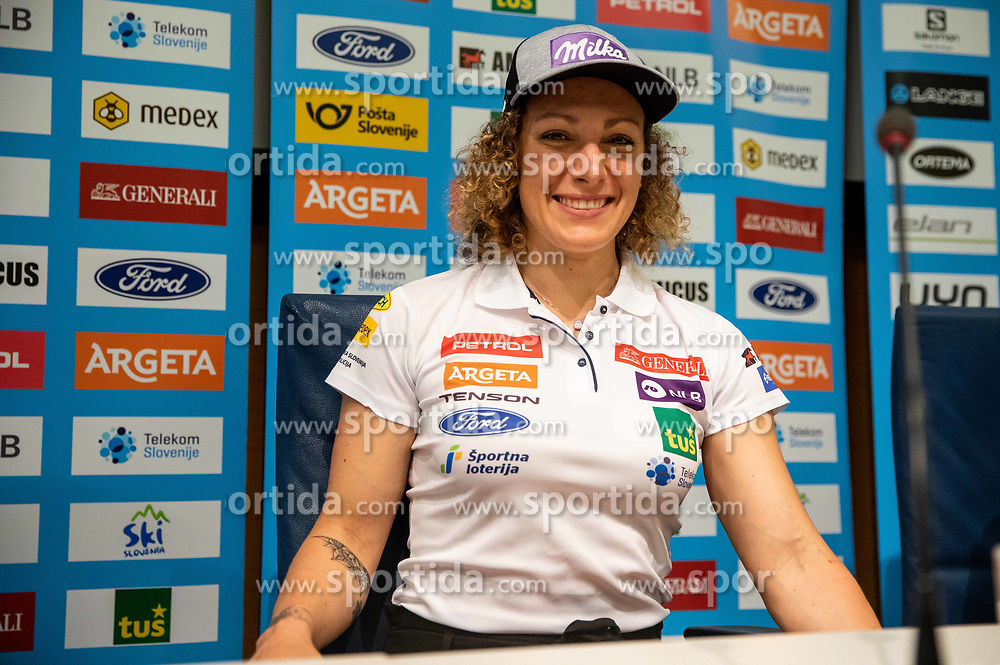 Ilka Stuhec during presentation of new alpine ski team of Ilka Stuhec before new season 2019/20, on June 10, 2019 in Telekom Slovenije, Ljubljana, Slovenia. Photo by Vid Ponikvar / Sportida