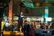 ED RISING-AUCTIONEER, Action Against Cancer 'A Voyage of Discovery' fundraising dinner at the Science Museum on Wednesday 14 October 2015.