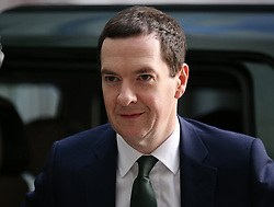 © Licensed to London News Pictures. 22/11/2015. London, UK. Chancellor of the Exchequer George Osborne arrives at Broadcasting House before his appearance on the Andrew Marr Show. Photo credit: Peter Macdiarmid/LNP