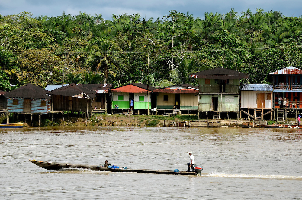 Homes on stilts line the Atrato river in Quibdó, the capital of the department of Chocó, the poorest region of Colombia. Gordon Radley, former president of Lucasfilm (Star Wars, Indiana Jones) traveled to Quibdó this month as part of his decades-long search for the remains of his brother, Lawrence Radley, a Peace Corps volunteer who died in a plane crash in the Chocó jungle in 1962. Radley promised that he would someday retrace the last steps of his brother, and complete the journey from Bahía Solano to Quibdó that his brother died trying to make.
