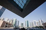 Sheikh Zayed Road. Emirates Towers Hotel entrance.
