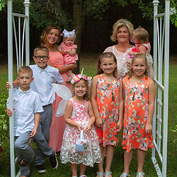 Does it get any better? Memaw has the opportunity to have all of the grandkids in one place, AND have a formal picture with them.