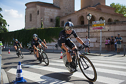 Elisa Longo-Borghini (ITA) of Wiggle High5 Cycling Team leans into the final corner on Stage 1 of the Madrid Challenge - a 12.6 km team time trial, starting and finishing in Boadille del Monte on September 15, 2018, in Madrid, Spain. (Photo by Balint Hamvas/Velofocus.com)