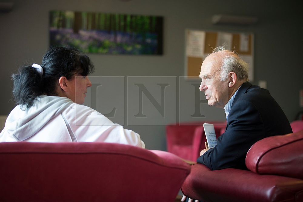 © Licensed to London News Pictures. 30/07/2017. York UK. Liberal Democrat leader Vince Cable is visiting the Peasholme Centre in York today as he continues his tour of the UK after becoming leader. The centre plays a crucial role in helping resettle homeless people in York & Vince Cable will meet councillors, staff & residents. Photo credit: Andrew McCaren/LNP