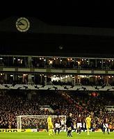 Photo: Alan Crowhurst.<br />Arsenal v Villarreal. UEFA Champions League. Semi-Final, 1st Leg. 19/04/2006. The clock end at Highbury counts down to the last game.