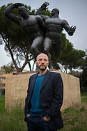 Roma, 22/03/2016: lo scrittore Mauro Covacichi nella sua casa romana