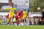 AFC Wimbledon midfielder Dannie Bulman (4) and Swindon Town midfielder John Goddard (10) during the EFL Sky Bet League 1 match between Swindon Town and AFC Wimbledon at the County Ground, Swindon, England on 14 April 2017. Photo by Stuart Butcher.