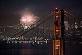 Golden Gate Bridge New Year Fireworks