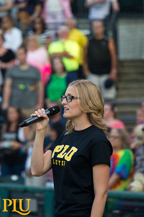 PLU Night at the Rainiers on Saturday, Aug. 23, 2014. (Photo/John Froschauer)