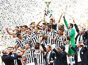 Foto Spada / LaPresse<br /> 18 05 2014 Torino (Italia)<br /> Sport Calcio<br /> Juventus - Cagliari<br /> Campionato italiano di calcio Serie A Tim 2013 2014 - Cerimonia di premiazione<br /> Nella foto: la premiazione<br /> <br /> Photo Spada / LaPresse<br /> 18 05 2014 Turin (Italy)<br /> Sport Soccer<br /> Juventus - Cagliari<br /> Italian Football Championship League A Tim 2013 2014 - Victory Ceremony<br /> In the picture: victory ceremony