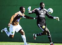 Fotball , 15. mars 2012, Privatkamp , Mjøndalen - Strømmen 3-0<br /> <br /> Duayne Kerr ,  Strømmen<br /> Aziz Idris , MIF