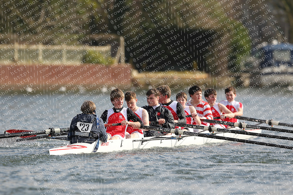 2012.02.25 Reading University Head 2012. The River Thames. Division 1. Radley College Boat Club C J15A 8+