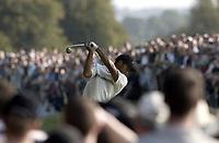Golf. Mount Juliet. Irland. 20.09.2002.<br />Tiger Woods, USA.<br />Foto: Digitalsport