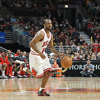 16 March 2012: Chicago Bulls point guard John Lucas III (15) is seen during the Portland Trail Blazers 100-89 victory over the Chicago Bulls at the United Center, Chicago, Illinois, USA.
