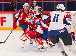 04.05.2013, Globe Arena, Stockholm, SWE, IIHF, Eishockey WM, Slowenien vs Norwegen, im Bild Norway 30 Lars Haugen // during the IIHF Icehockey World Championship Game between Slovenia and Norway at the Ericsson Globe, Stockholm, Sweden on 2013/05/04. EXPA Pictures © 2013, PhotoCredit: EXPA/ PicAgency Skycam/ Johan Andersson *****ATTENTION - OUT OF SWE *****
