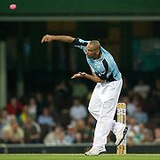 Anthony Mundine in action during Australia's Big Bash Cricket match to raise money for the Victorian Bushfire Appeal at the Sydney Cricket Ground, Sydney, Australia on February 22, 2009. The match was attended by over 20,000 spectators.  Photo Tim Clayton
