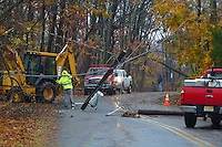 Hurricane Sandy Aftermath in Skillman New Jersey Day 1. Image taken with a Leica V-Lux 30 camera.