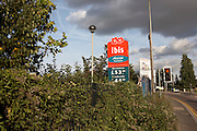 An Ibis motel sign on an industrial roadside advertises rooms from £44 weekdays in West Thurrock, Thames gateway